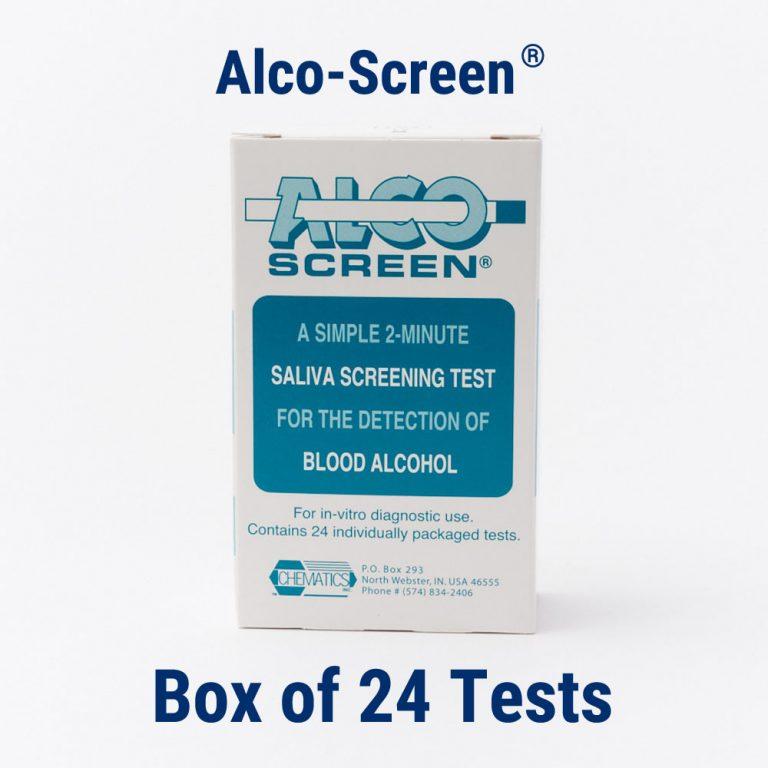 Alco-Screen® Alcohol Test (Box of 24)   Chematics, Inc