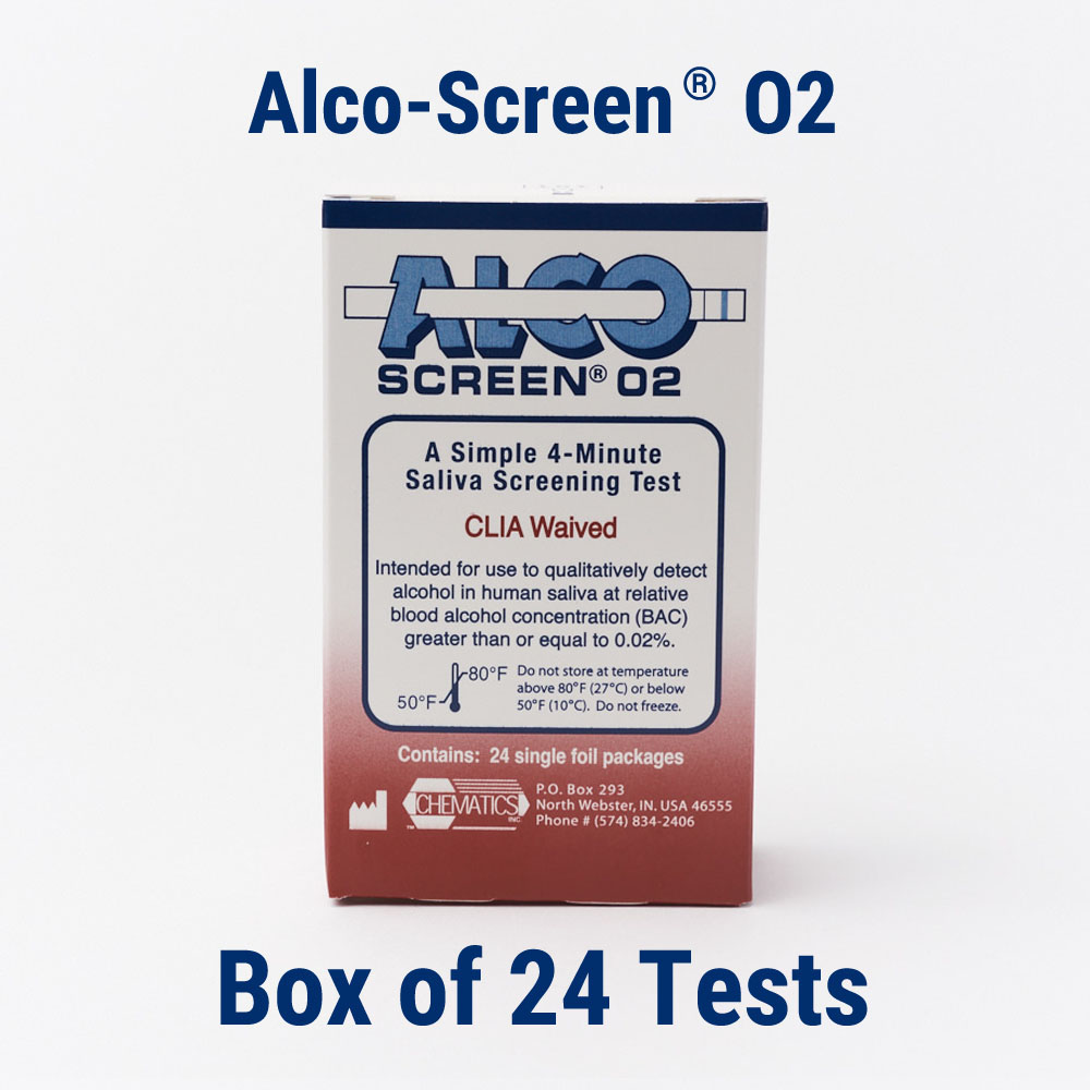 Alco-Screen® 02 (Box of 24 Tests)