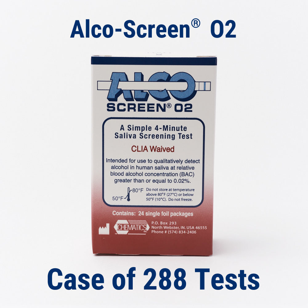 Alco screen alcohol test case of 288 tests chematics inc alco screen 02 case of 288 tests fandeluxe Image collections
